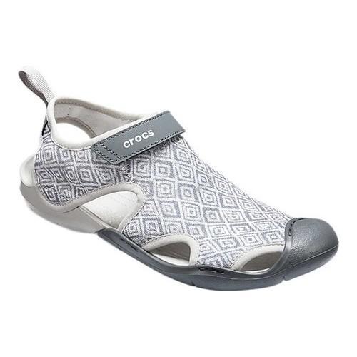 d21f8ae980e Shop Women s Crocs Swiftwater Mesh Sandal Grey Diamond - Free Shipping  Today - Overstock - 19509741
