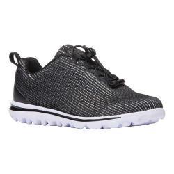 Women's Propet TravelActiv Xpress Sneaker Black/White Nylon