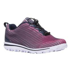 Women's Propet TravelActiv Xpress Sneaker Navy/Pink Nylon