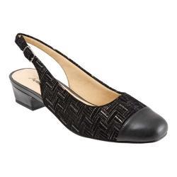 Women's Trotters Dea Black Woven Printed Weave Leather