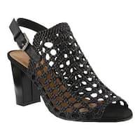 Women's Azura Stacy Caged Sandal Black Synthetic
