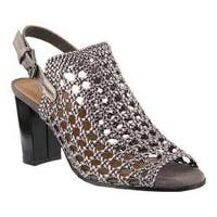 Women's Azura Stacy Caged Sandal Pewter Synthetic