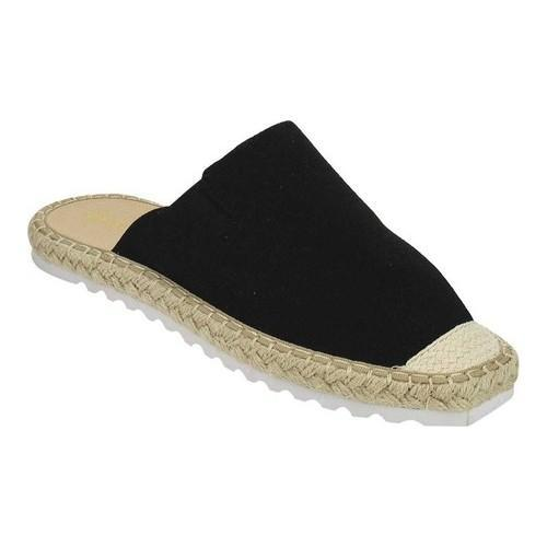 685fdc671 Shop Women's Beston Ben-1 Espadrille Mule Black Canvas - Free Shipping On  Orders Over $45 - Overstock - 19517400