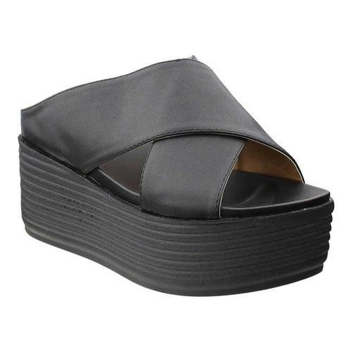 d7cd2a9d156a Shop Women s Beston Fun Platform Slide Sandal Black PU Faux Leather - Free  Shipping On Orders Over  45 - Overstock - 19517431