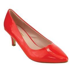 Women's Beston Kate-2 Dress Pump Red Patent Faux Patent