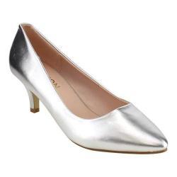 Women's Beston Kate-2 Dress Pump Silver Faux Leather