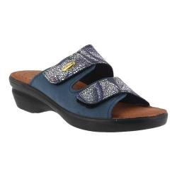 Women's Flexus by Spring Step Kina Slide Sandal Blue Multi (2 options available)