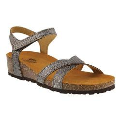 Women's Spring Step Illian Strappy Sandal Pewter Leather