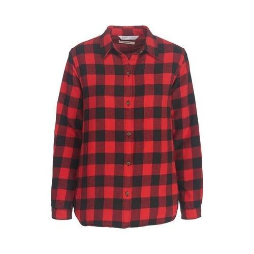 4475185f411 Shop Women s Woolrich Pemberton Insulated Flannel Shirt Jacket Red Buffalo  Check - Free Shipping Today - Overstock - 19518080