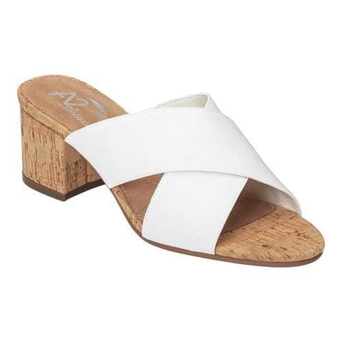 bf5a83c0007 Shop Women s A2 by Aerosoles Midday Slide White Fabric - Free Shipping  Today - Overstock - 19530122