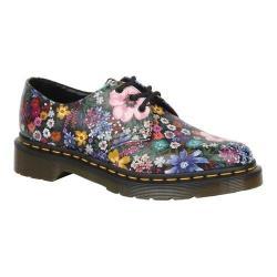 Women's Dr. Martens 1461 3-Eye Shoe Black/Mallow Pink Wanderlust Backhand Leather