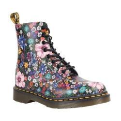 Women's Dr. Martens Pascal 8-Eye Zip Boot Black/Mallow Pink Wanderlust Backhand Leather