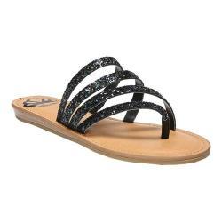 Women's Fergalicious Delaney Thong Sandal Black Multi Glitter
