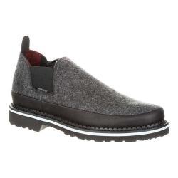 Men's Georgia Boot GB00208 4in Giant Pendleton Romeo Shoe Charcoal/Grey Pendleton Wool/Full Grain Leather