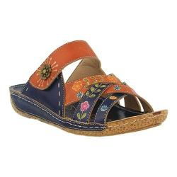 Women's L'Artiste by Spring Step Leigh Slide Navy Multi Leather