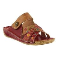 Women's L'Artiste by Spring Step Leigh Slide Red Multi Leather