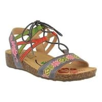 Women's L'Artiste by Spring Step Loma Wedge Sandal Grey Multi Leather