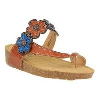 Women's L'Artiste by Spring Step Ludovica Thong Sandal Camel Leather
