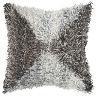 """Rizzy Home Geometric Natural Decorative Down Filler Pillow - 20""""x20"""""""