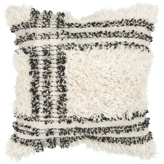 """Rizzy Home Stripe Natural Decorative Poly Filled Pillow - 20""""x20"""""""