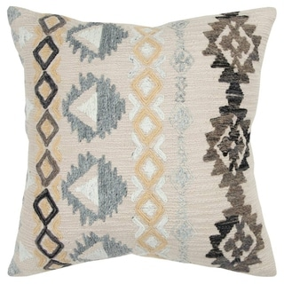 The Curated Nomad Kowalska Medallion Ivory Poly-filled Decorative Pillow