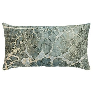 "Porch & Den Jupiter Hills Abstract Grey Decorative Poly Filled Pillow - 14""x26"""