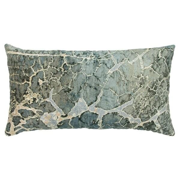 "Porch & Den Jupiter Hills Abstract Grey Decorative Poly Filled Pillow - 14""x26"""