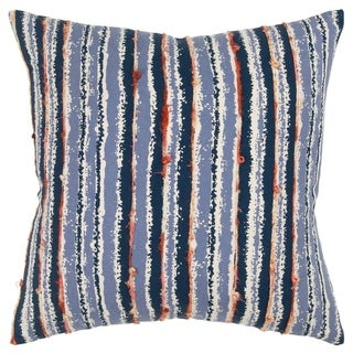 "Rizzy Home Stripe Blue Decorative Poly Filled Pillow - 20""x20"""