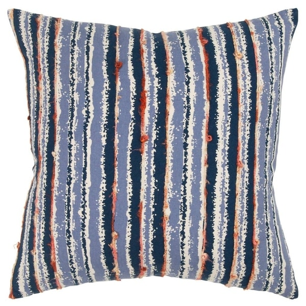 """Rizzy Home Stripe Blue Decorative Poly Filled Pillow - 20""""x20"""""""