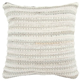 The Curated Nomad Alta Striped Natural/ Beige Pillow