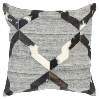 """Rizzy Home Geometric Natural/Black Donny Osmond Home - 20""""x20"""""""