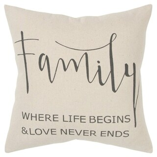 "Rizzy Home Sentiment Natural Decorative Poly Filled Pillow - 20""x20"""