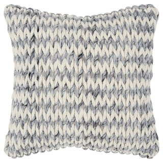 "Rizzy Home Chunky knit Natural/Gray Donny Osmond Home - 20""x20"""