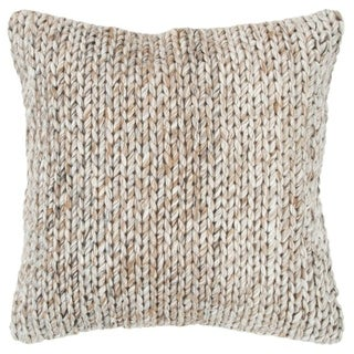 """Rizzy Home Chunky knit Natural/Gray Donny Osmond Home - 20""""x20"""""""