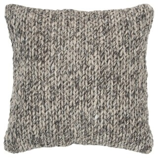 "Rizzy Home Chunky knit Natural/Brown Donny Osmond Home - 20""x20"""