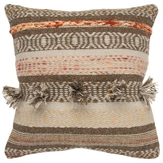 The Curated Nomad Laguna Striped Natural Poly-filled Decorative Pillow