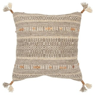 The Curated Nomad Portola Striped Natural Poly-filled Decorative Pillow