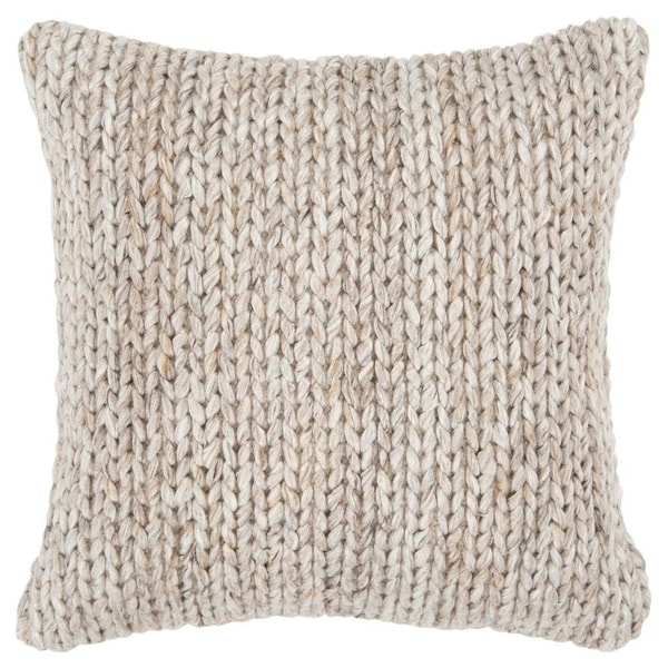 """Rizzy Home Diamond Natural/Beige Donny Osmond Home - 20""""x20"""""""