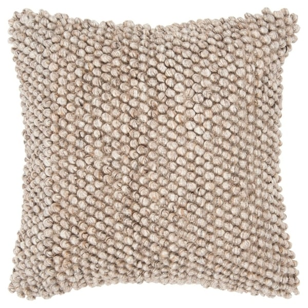 "Rizzy Home Chunky knit Natural/Beige Donny Osmond Home - 20""x20"""