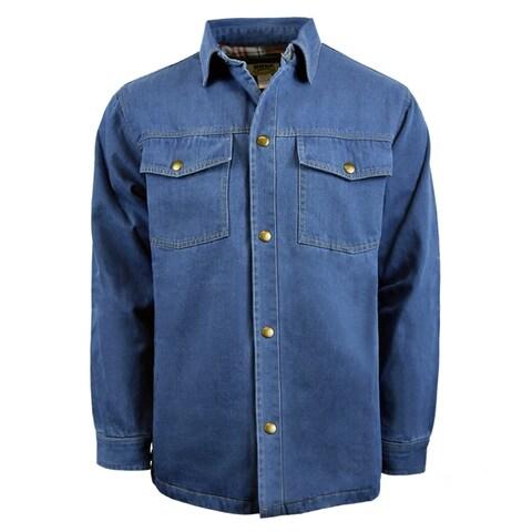 Men's Denim Jacket with Printed Lining