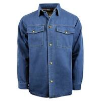 Men's Denim Jacket with Printed Lining