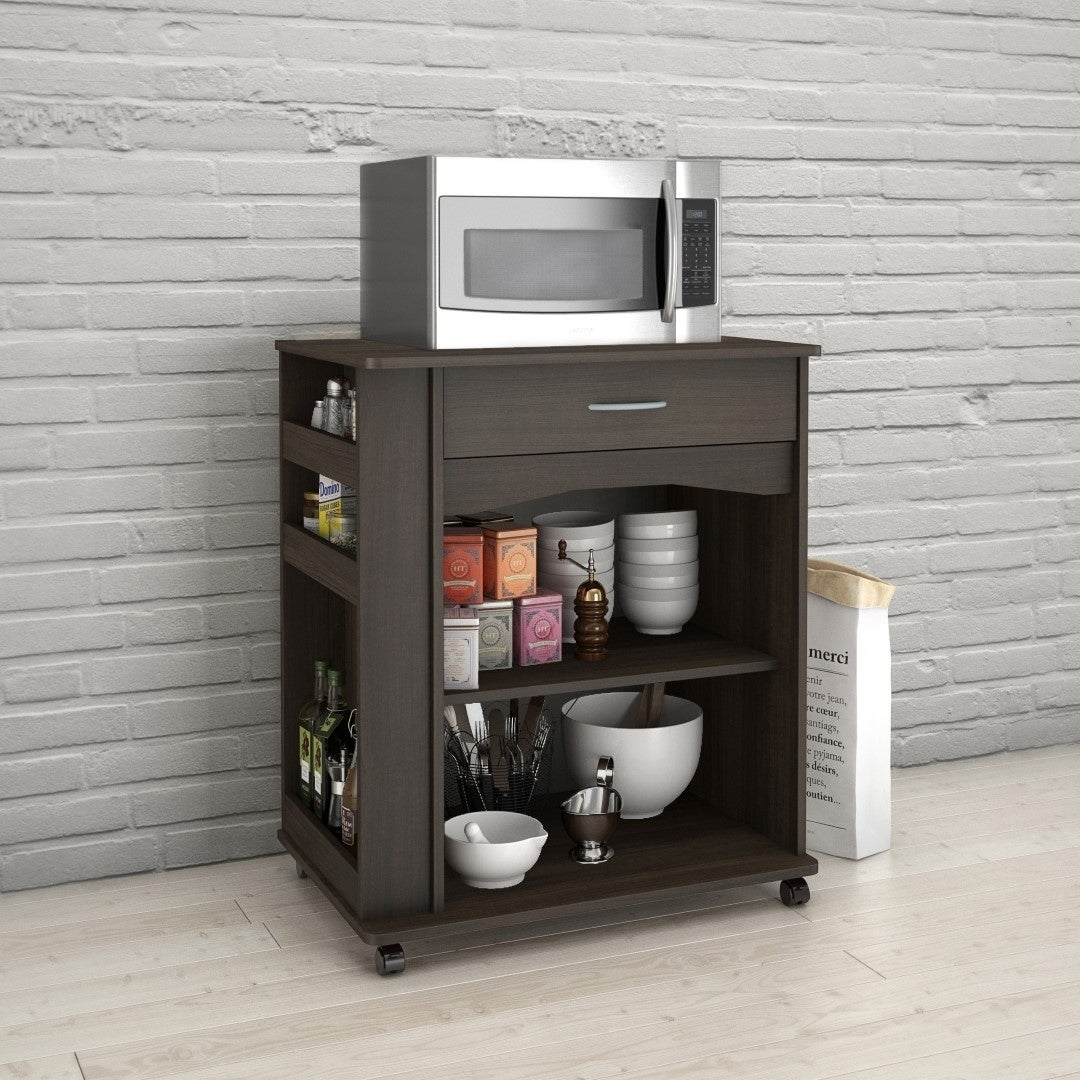 Carts 1 Drawer Mobile Microwave Cart