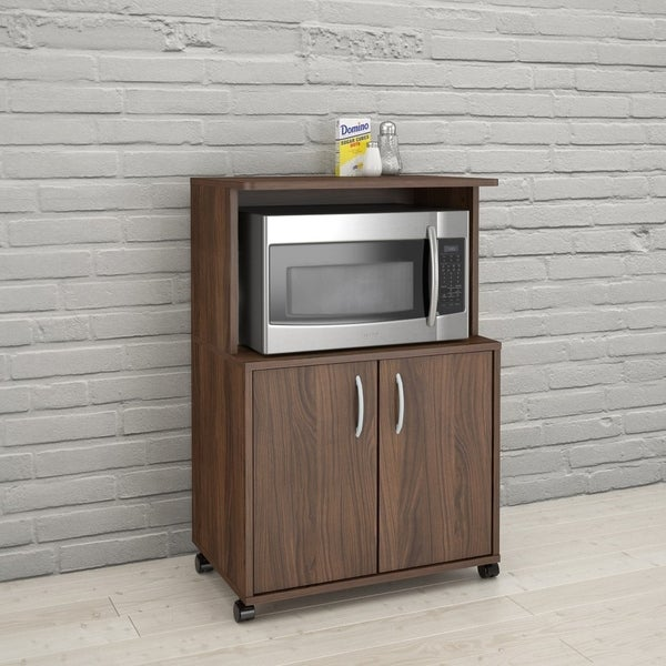 Shop Carts 2 Door Mobile Microwave Cart Free Shipping