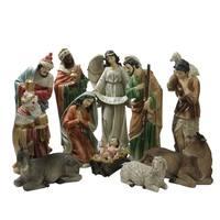 "11 Piece Large Tranquil Religious Christmas Nativity Set 22.75"""