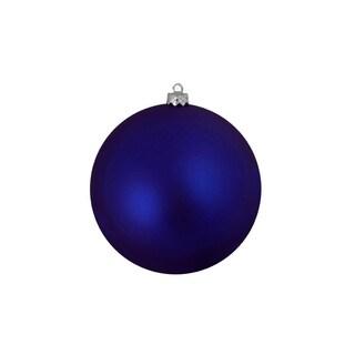"12ct Shatterproof Matte Royal Blue Christmas Ball Ornaments 4"" (100mm)"