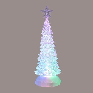 "10"" Ice Crystal Battery Operated Decorative LED Color Changing Christmas Tree"