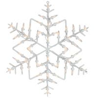 """18"""" Lighted Snowflake Christmas Window Silhouette Decoration (Pack of 4)"""