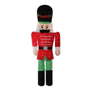 6' Pre-Lit Candy Cane Lane 2D Toy Soldier Christmas Yard Art Decoration