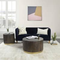 Andy Round Coffee Table by Kosas Home - 18hx32wx32d