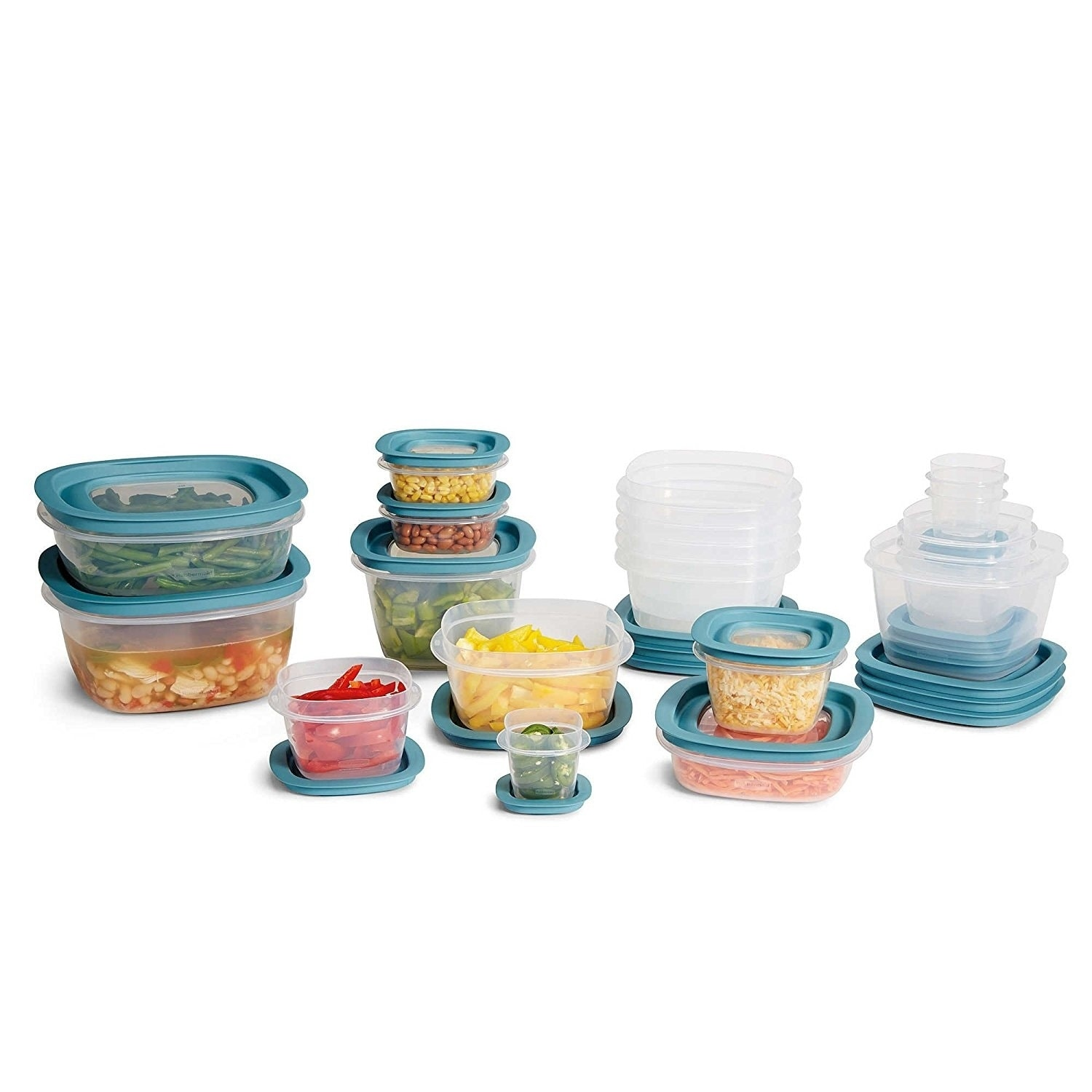 Rubbermaid Flex /& Seal 26 pc Food Storage Container Set ~ Easy Find Lids ~ Blue